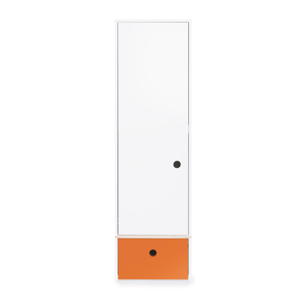 Armoire 1 porte COLORFLEX Abitare Kids façade tiroir pure orange