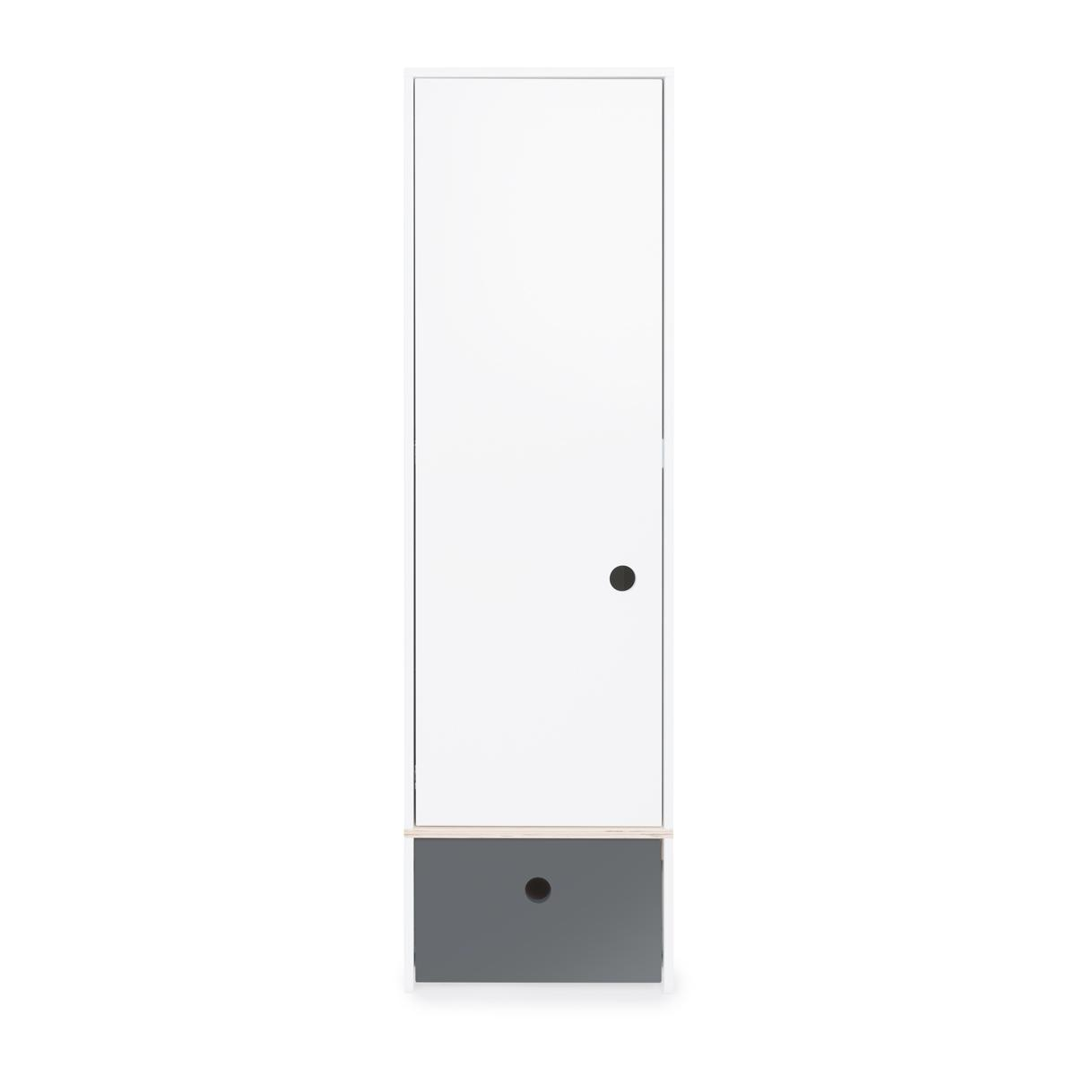Armoire 1 porte COLORFLEX Abitare Kids façade tiroir space grey
