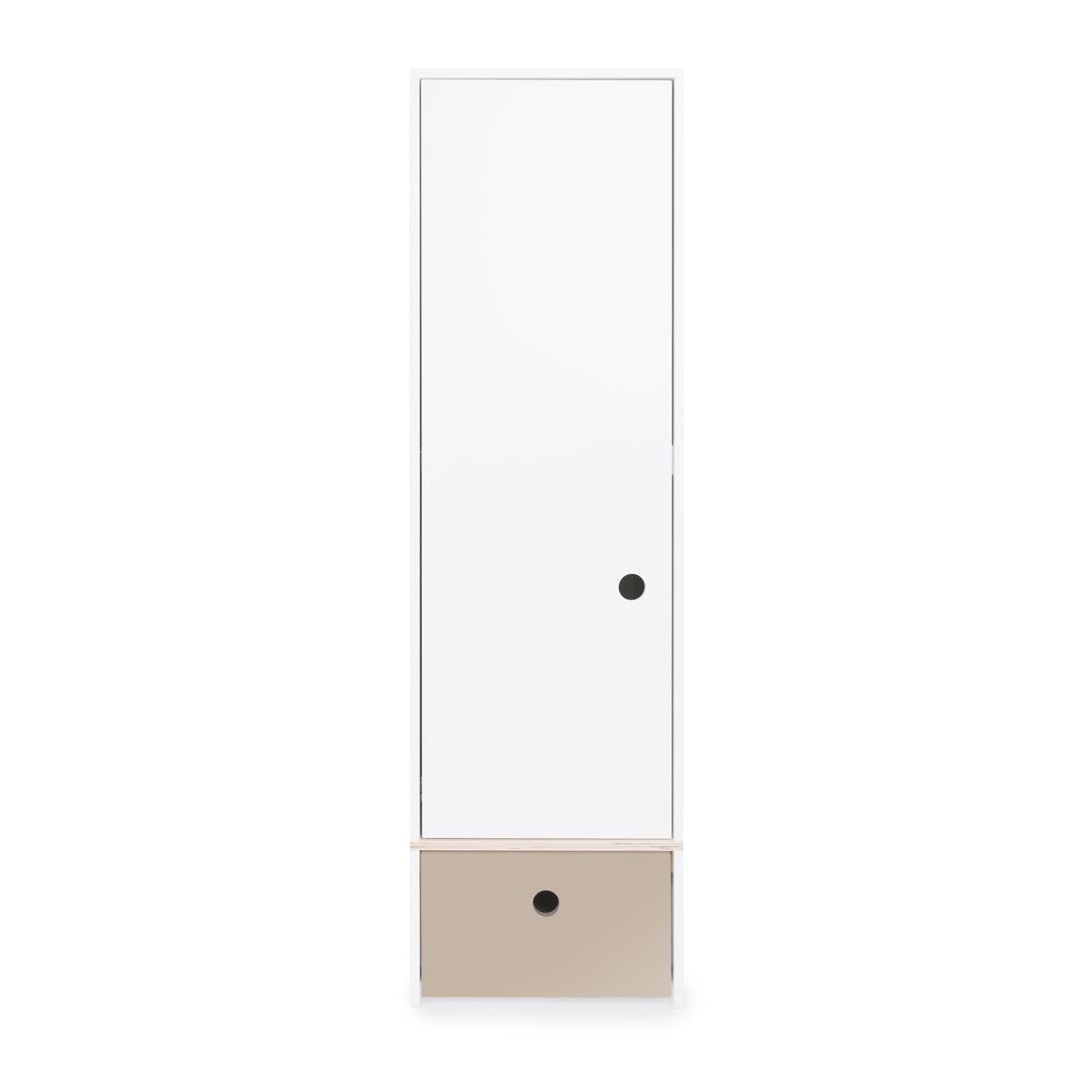 Armoire 1 porte COLORFLEX Abitare Kids façade tiroir warm grey
