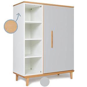 Armoire 120cm 1 porte NADO By A.K. manhattan grey