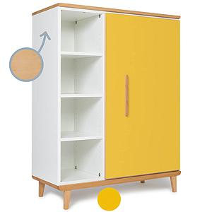 Armoire 120cm 1 porte NADO By A.K. sunshine yellow