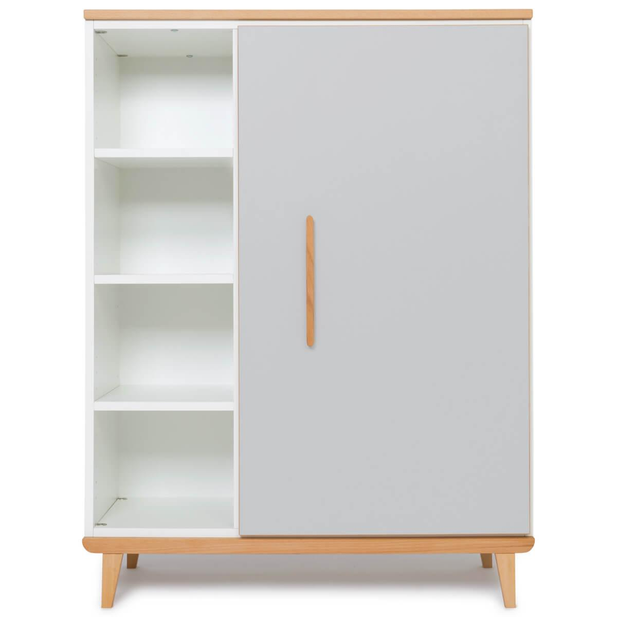 Armoire 120cm 1 porte NADO manhattan grey