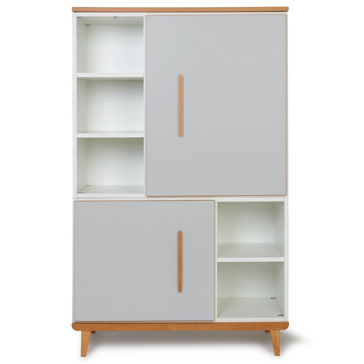 Armoire 147cm 2 portes NADO By A.K. manhattan grey