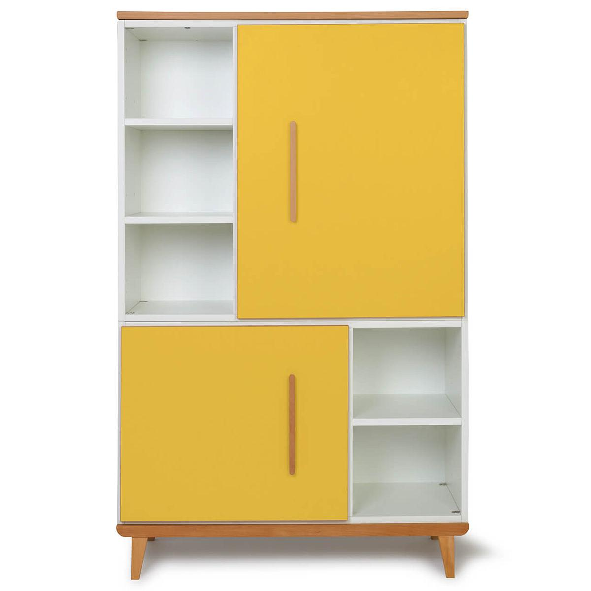 Armoire 147cm 2 portes NADO sunshine yellow