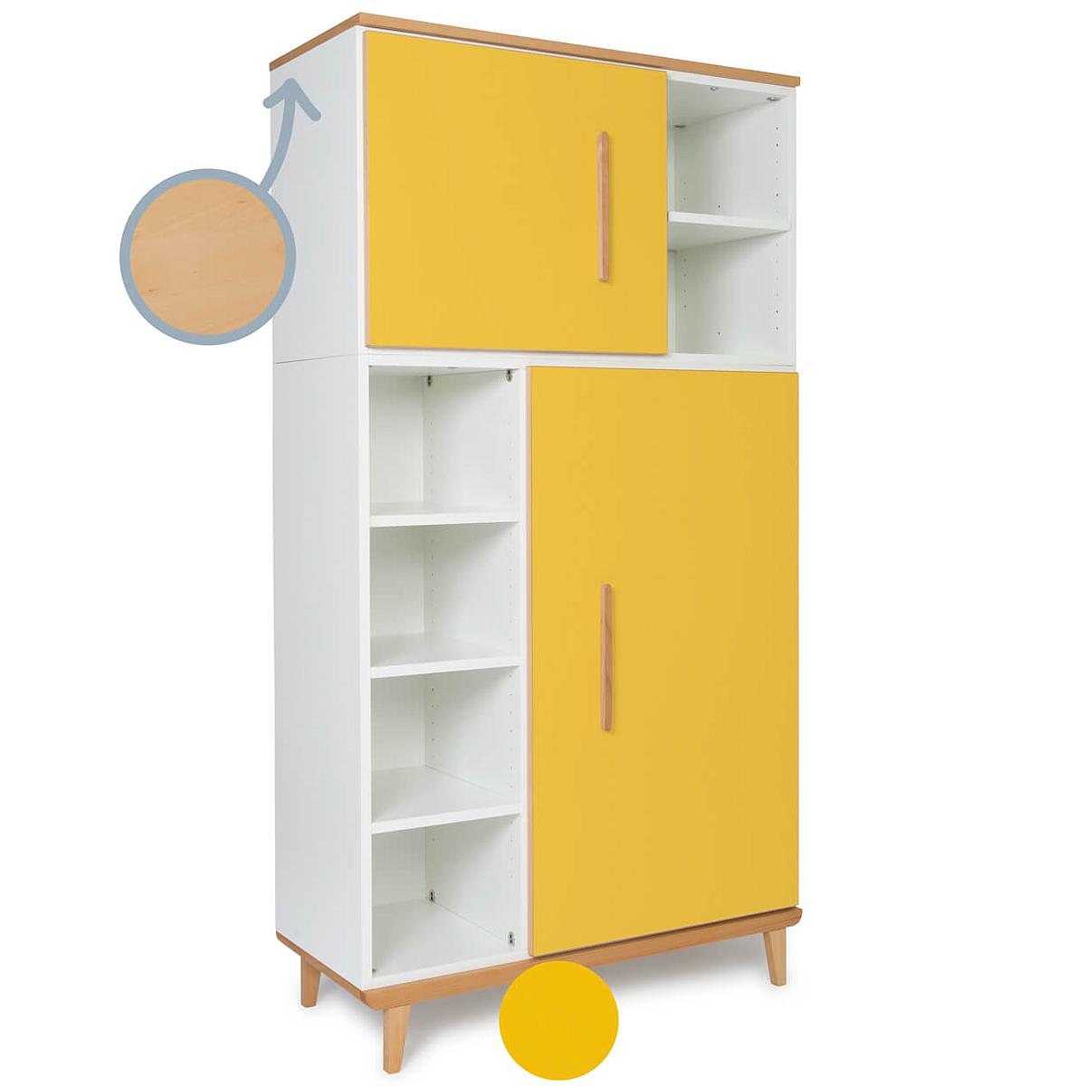 Armoire 173cm 2 portes NADO By A.K. sunshine yellow