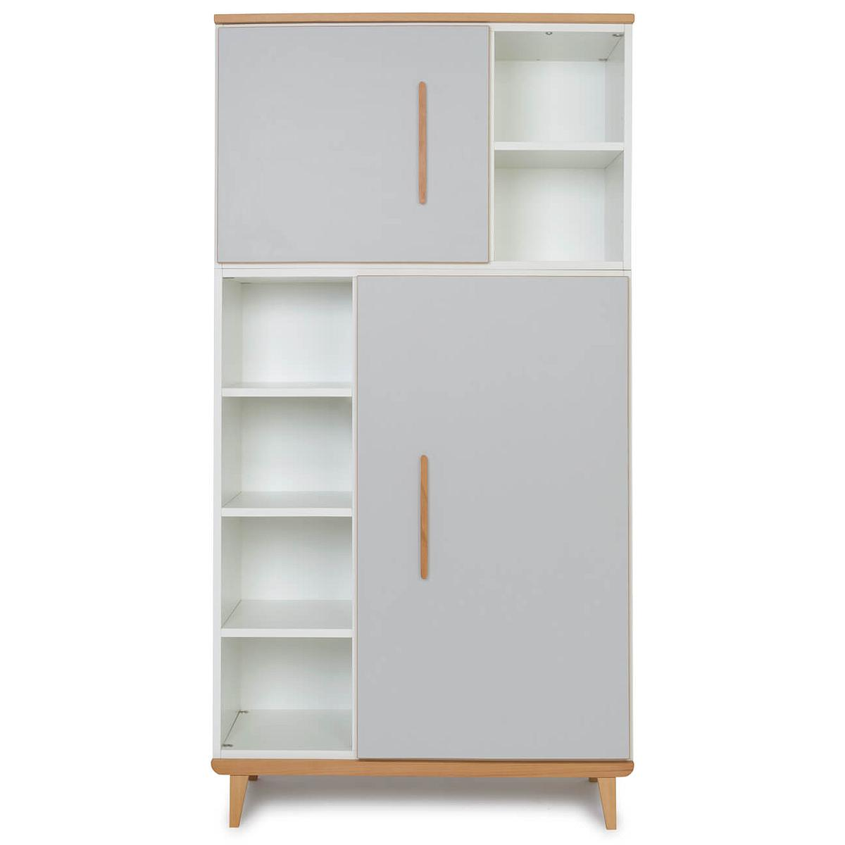 Armoire 173cm 2 portes NADO manhattan grey