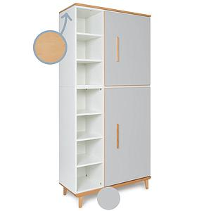 Armoire 198cm 2 portes NADO By A.K. manhattan grey
