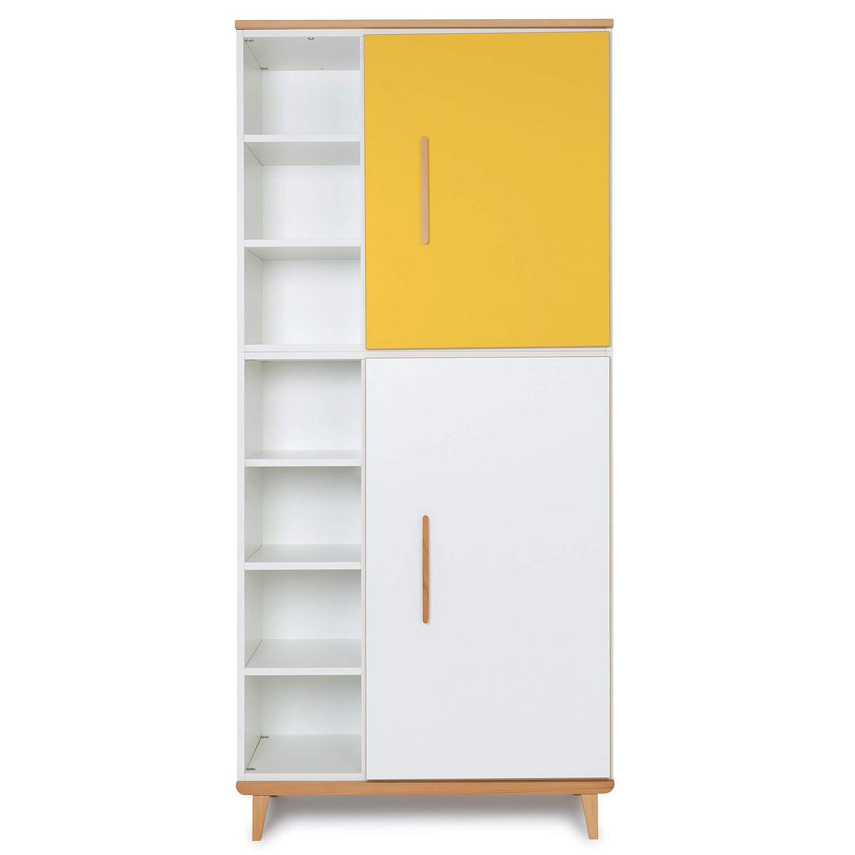 Armoire 198cm 2 portes NADO By A.K. sunshine yellow-white