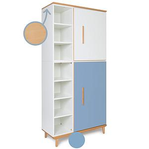 Armoire 198cm 2 portes NADO By A.K. white-capri blue