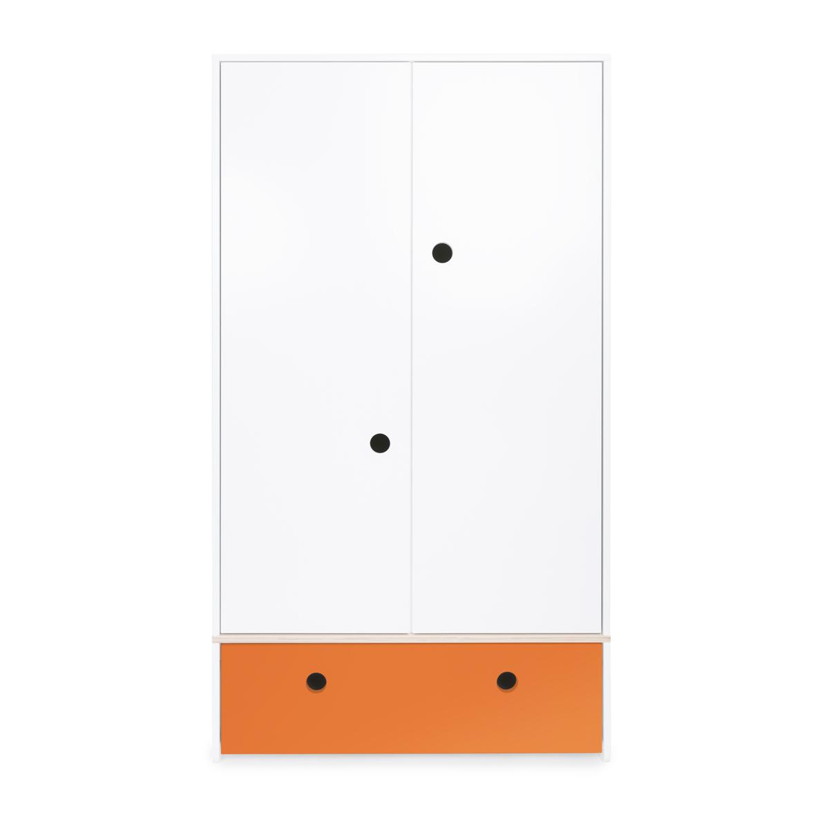 Armoire 2 portes COLORFLEX Abitare Kids façade tiroir pure orange