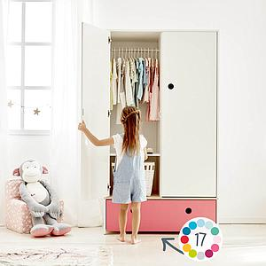 Armoire 2 portes COLORFLEX Abitare Kids façade tiroir sea foam