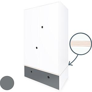 Armoire 2 portes COLORFLEX Abitare Kids façade tiroir space grey