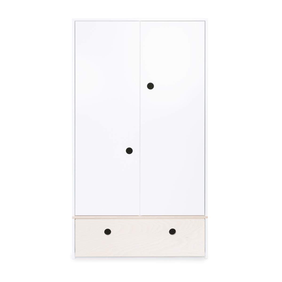 Armoire 2 portes COLORFLEX Abitare Kids façade tiroir white wash