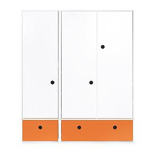Armoire 3 portes COLORFLEX Abitare Kids façades tiroirs pure orange