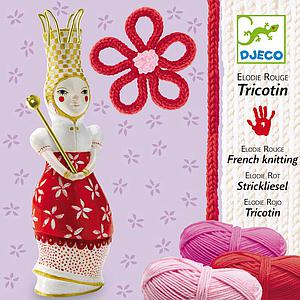 Atelier créatif laine TRICOTIN ELODIE ROUGE  Djeco