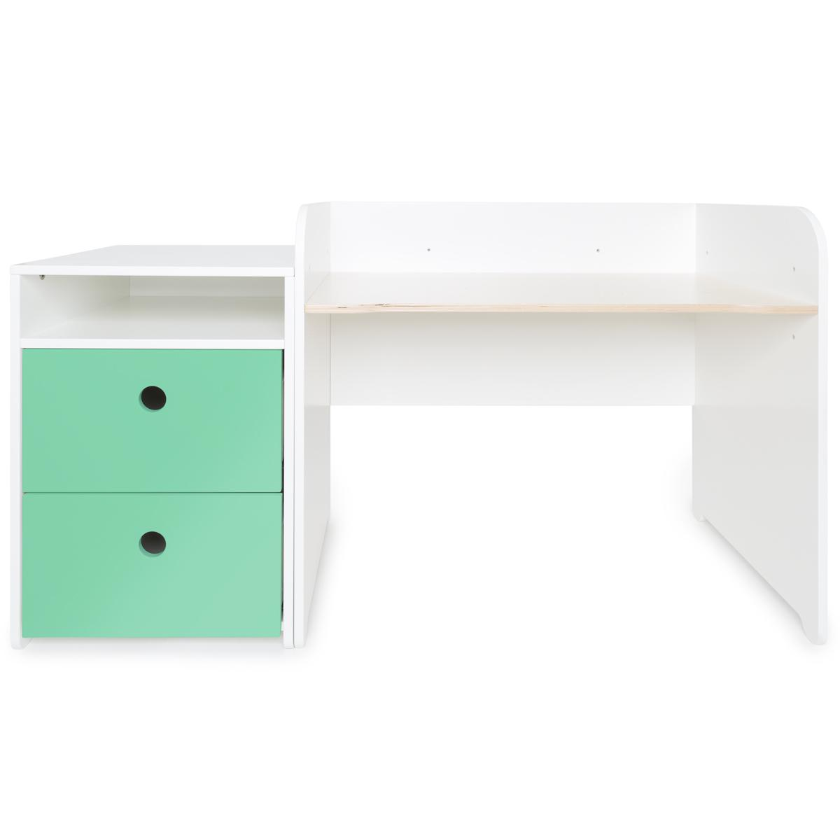 Bureau évolutif-petit meuble 2 tiroirs COLORFLEX Abitare Kids sea foam