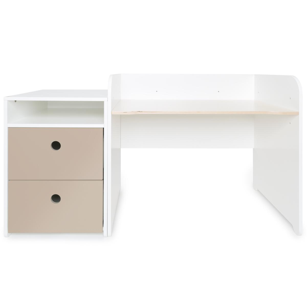 Bureau évolutif-petit meuble 2 tiroirs COLORFLEX Abitare Kids warm grey