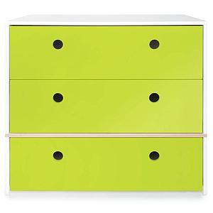 Commode 3 tiroirs COLORFLEX Abitare Kids façades tiroirs lime