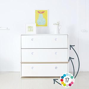 Commode 3 tiroirs COLORFLEX Abitare Kids façades tiroirs sea foam