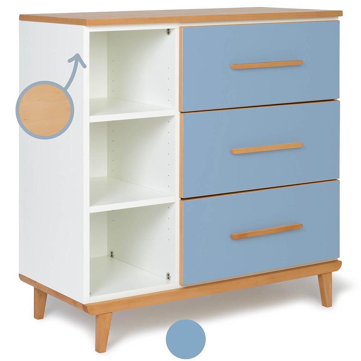 Commode 3 tiroirs NADO By A.K. capri blue