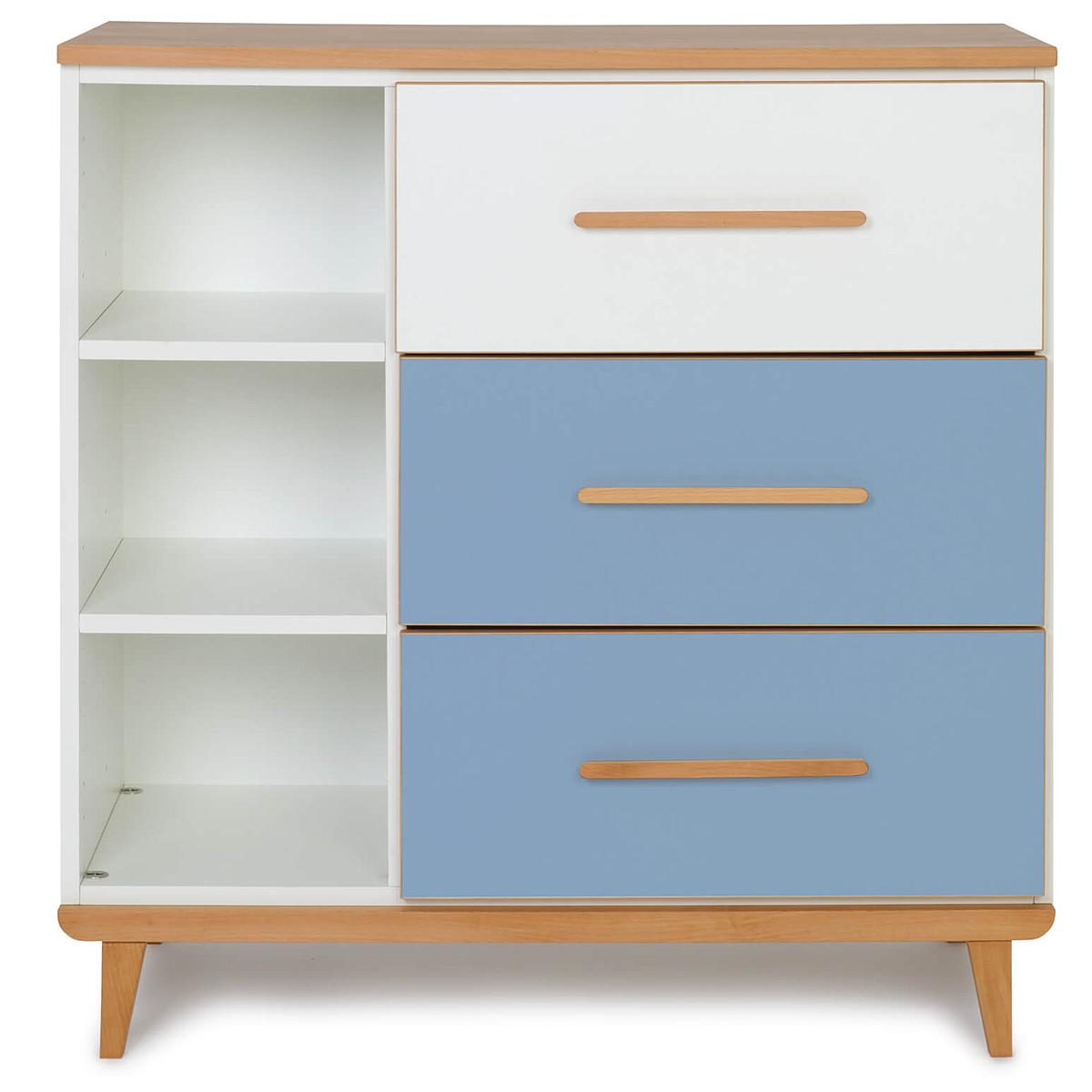 Commode 3 tiroirs NADO By A.K. white-capri blue