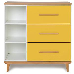Commode 3 tiroirs NADO sunshine yellow