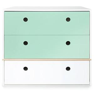 Commode COLORFLEX Abitare Kids façades tiroirs mint-mint-white