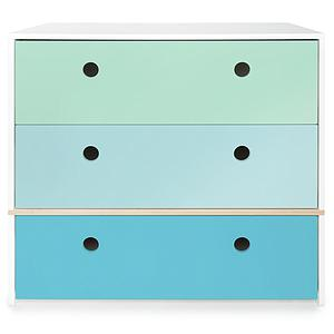 Commode COLORFLEX Abitare Kids façades tiroirs mint-sky blue-paradise blue