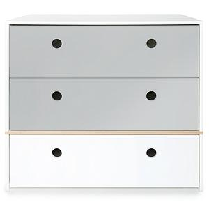 Commode COLORFLEX Abitare Kids façades tiroirs pearl grey-pearl grey-white