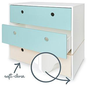 Commode COLORFLEX Abitare Kids façades tiroirs sky blue-white wash