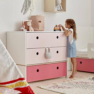Commode COLORFLEX Abitare Kids façades tiroirs sweet pink-pink