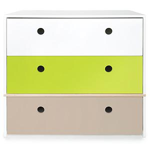 Commode COLORFLEX Abitare Kids façades tiroirs white-lime-warm grey