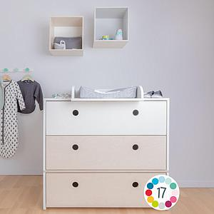 Commode COLORFLEX Abitare Kids façades tiroirs white wash-white wash-white
