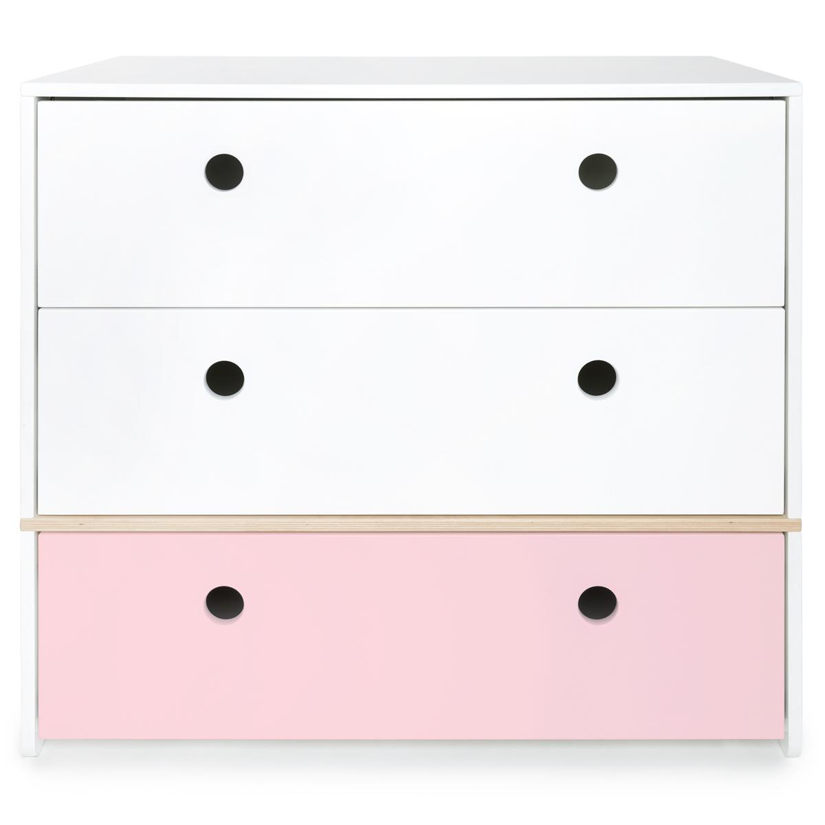 Commode COLORFLEX Abitare Kids façades tiroirs white-white-sweet pink