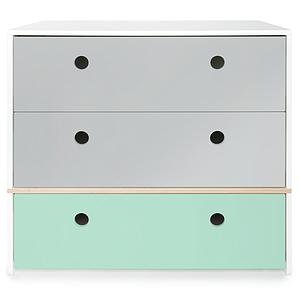 Commode COLORFLEX façades tiroirs pearl grey-pearl grey-mint