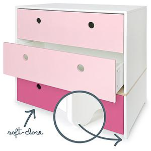 Commode COLORFLEX façades tiroirs sweet pink-pink