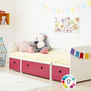 Lit évolutif 90x200cm COLORFLEX Abitare Kids white-true red-white