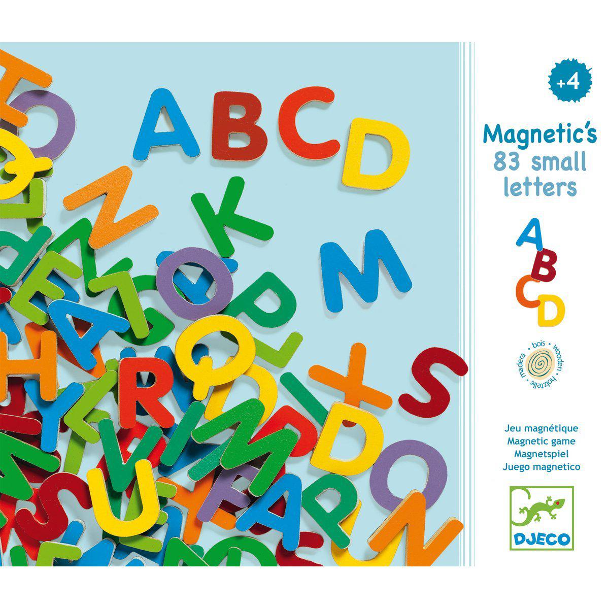 Magnets bois 83 SMALL LETTERS Djeco
