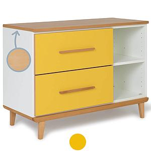 Petit meuble 2 tiroirs NADO sunshine yellow