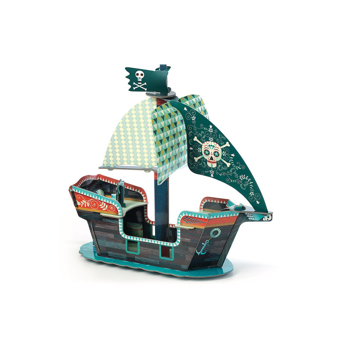 Pop to play enfant BATEAU PIRATE 3D DJECO