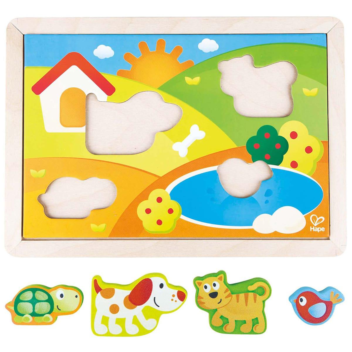 Puzzle encastrement 3-IN-1 SUNNY VALLEY Hape