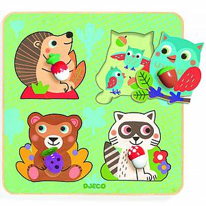 Puzzles gros boutons CROC-NUT  Djeco