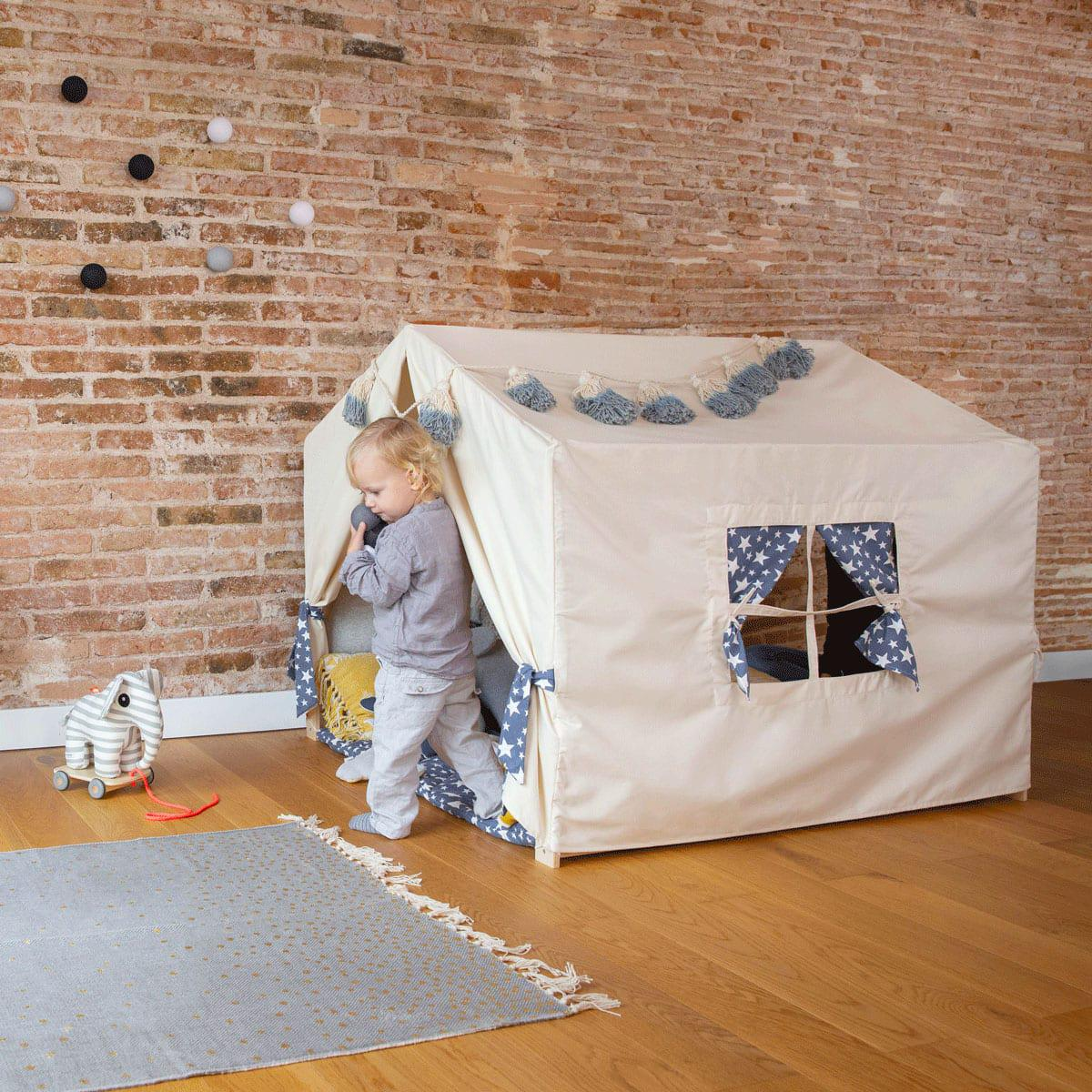 Textile habillage cabane PLAYHOUSE By A.K. jeans