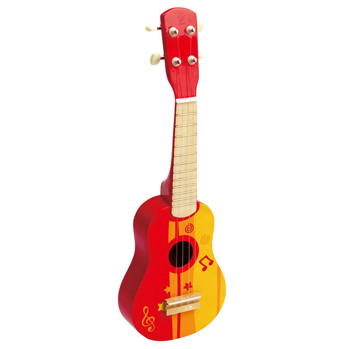 UKULELE by Hape Guitare en bois rouge
